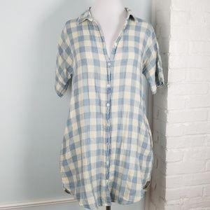 White Crow Gingham shirt dress